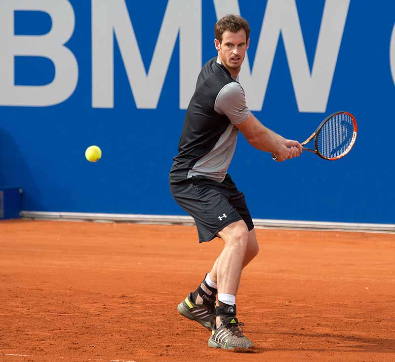 Andy Murray (GBR)  Tennis - BMW Open - ATP -   MTTC Iphitos - Muenchen -  - Germany  - 26 April 2015.  © Juergen Hasenkopf