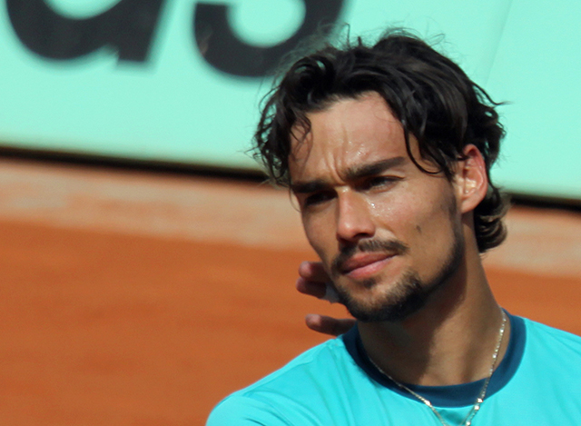 Fabio Fognini French Open Paris Foto: Stefan Ruef