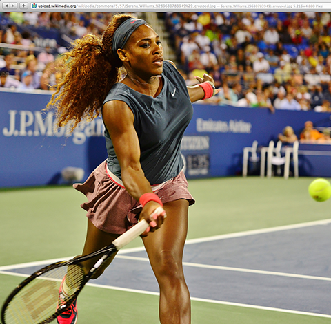 Wikipedia / Serena Williams (Screenshot)